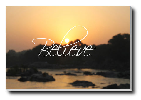 Canvas Art Prints, Believe Stretched Canvas Print, - PosterGully - 1