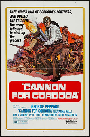 Brand New Designs, Cannon For Cordoba | Retro Movie Poster, - PosterGully - 1