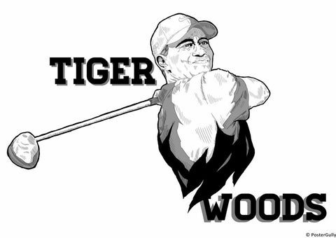 Wall Art, Tiger Woods Artwork, - PosterGully