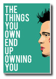 Canvas Art Prints, Fight Club Quote Stretched Canvas Print, - PosterGully - 1