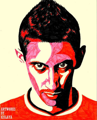 Wall Art, Angel Di Maria Artwork | Artist: Kislaya Sinha, - PosterGully
