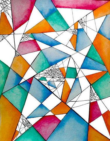 Wall Art, Abstract Triangle Artwork | Artist: Karan Mehta, - PosterGully