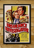 Brand New Designs, Insurance Investigator | Retro Movie Poster, - PosterGully - 2
