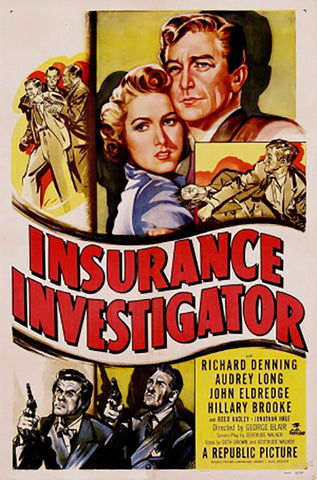 Wall Art, Insurance Investigator | Retro Movie Poster, - PosterGully - 1
