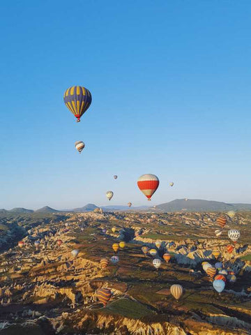 Brand New Designs, Hot Air Balloons At Turkey 1 Artwork | Artist: Karthik Abhiram, - PosterGully