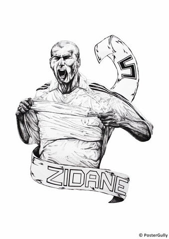 Wall Art, Zinedine Zidane Artwork, - PosterGully