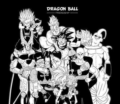 Square Art Prints, Dragon Ball Z Friendship Artwork | Artist: Pankaj Lewarikar, - PosterGully