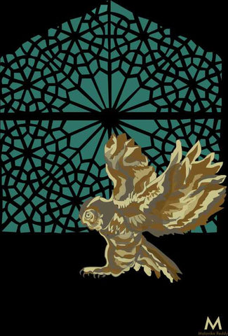 Wall Art, Owl And Window 1 Artwork | Artist: Malavika Reddy, - PosterGully