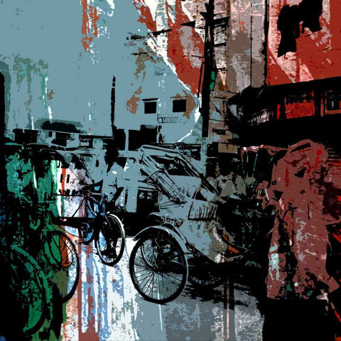 Brand New Designs, Indian Street 1 Artwork | Artist: Prakash Raman, - PosterGully