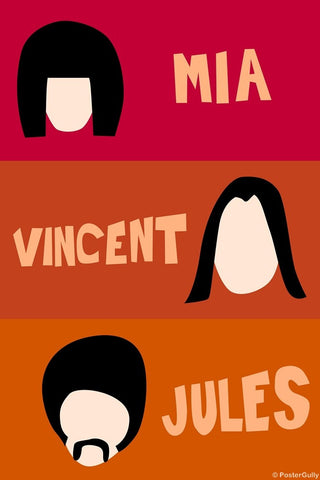 Wall Art, Mia, Vincent And Jules | Pulp Fiction, - PosterGully