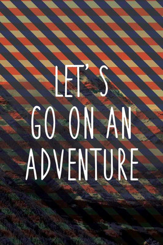 Wall Art, Adventure Motivational Stripes Artwork |  Artist:  Inderpreet, - PosterGully