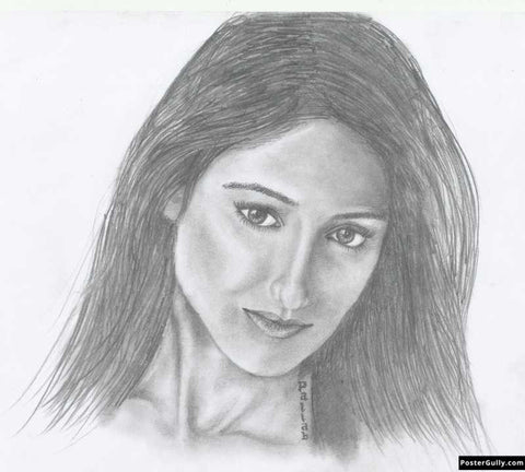 Wall Art, Ileana Dcruz | Sketch Artwork | Artist: Pallab Bhowmik, - PosterGully