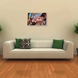 Canvas Art Prints, Grinning King Stretched Canvas Print, - PosterGully - 3