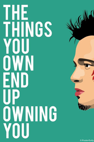 Wall Art, Things Own You | Fight Club, - PosterGully