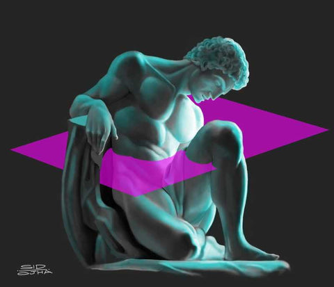 Wall Art, Male Statue Artwork  | Artist: Sidharth Ojha, - PosterGully