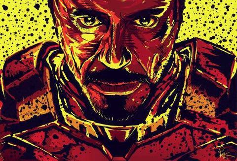 Wall Art, Iron Man Artwork | Artist: Pratik Kamat, - PosterGully