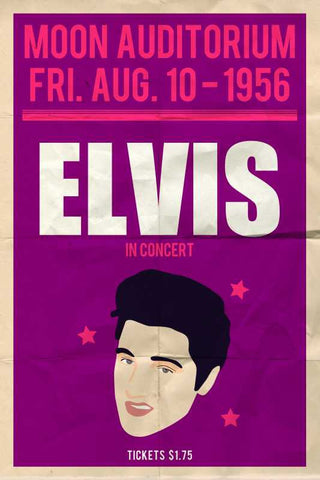 Elvis Presley Moon Concert |  PosterGully Specials