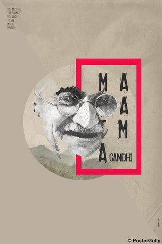 Wall Art, Mahatma Gandhi Artwork | Jaydhrit, - PosterGully