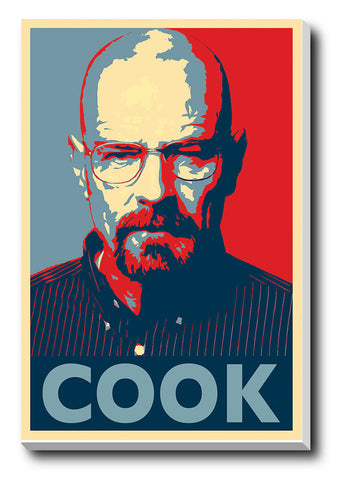 Canvas Art Prints, Breaking Bad COOK Stretched Canvas Print, - PosterGully - 1