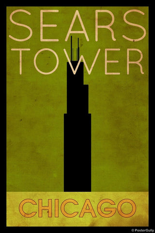 Wall Art, Sears Tower | Chicago, - PosterGully