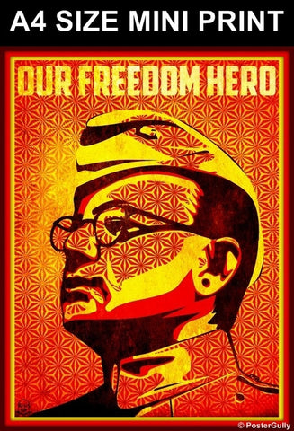 Mini Prints, Subhash Chandra Bose | Mini Print, - PosterGully