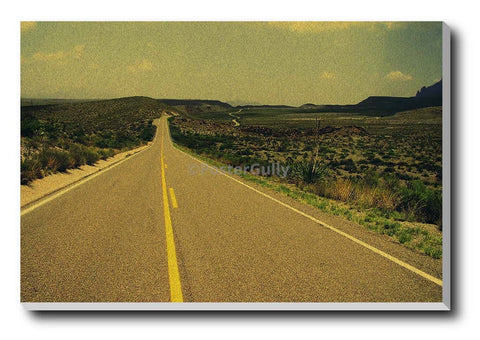 Canvas Art Prints, On The Road Stretched Canvas Print, - PosterGully - 1