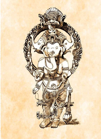 Wall Art, Lord Ganesha Artwork  | Artist: Vinayak Dasari, - PosterGully