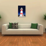 Canvas Art Prints, Lonely Lighthouse Stretched Canvas Print, - PosterGully - 3