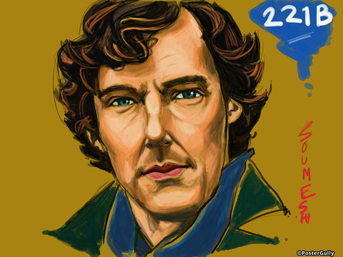 Brand New Designs, Sherlock Artwork | Artist: Soumesh Choudhury, - PosterGully - 1