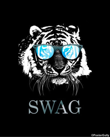 Wall Art, Tiger Swag Glasses, - PosterGully