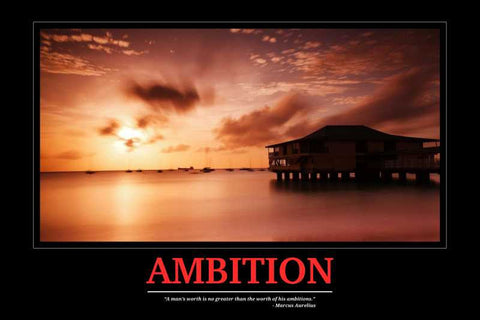 Ambition Motivational |  PosterGully Specials