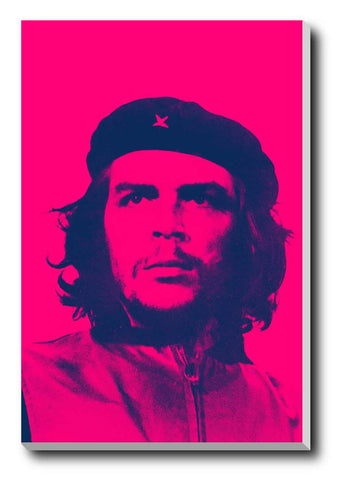 Canvas Art Prints, Che Guevara Pink Stretched Canvas Print, - PosterGully - 1