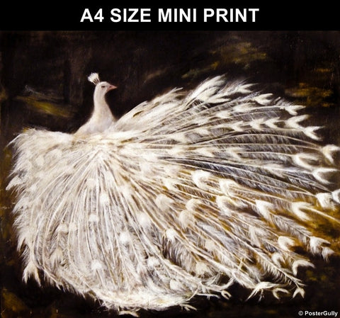 Mini Prints, Peacock Canvas Painting | Mini Print, - PosterGully