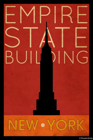 Wall Art, Empire State Building | New York Vintage, - PosterGully