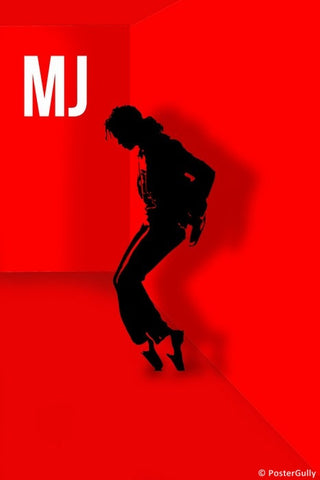 Wall Art, Michael Jackson Red Artwork, - PosterGully