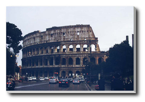 Canvas Art Prints, Colosseum Rome | Blue Stretched Canvas Print, - PosterGully - 1