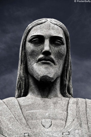 Wall Art, Christ The Redeemer Face, - PosterGully