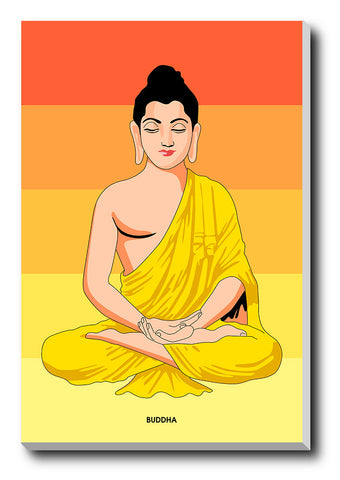 Canvas Art Prints, Lord Buddha Artwork Stretched Canvas Print, - PosterGully - 1