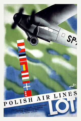 Wall Art, Polish Air Lines, - PosterGully