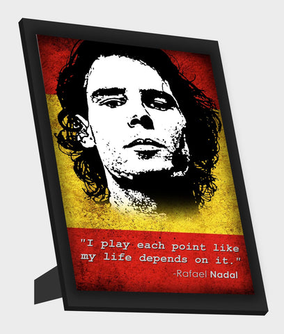 Framed Art, Rafael Nadal Quote Framed Art, - PosterGully
