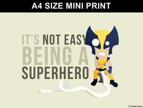 Mini Prints, Wolverine Artwork Rachit | Mini Print, - PosterGully