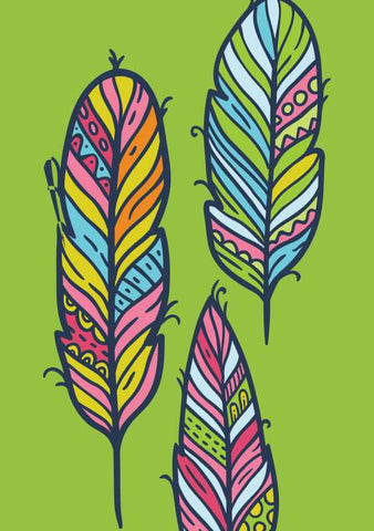 Wall Art, Tribal Feathers Artwork | Artist: leena Parvin, - PosterGully