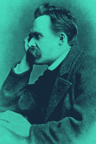 Wall Art, Nietzsche Portrait Green, - PosterGully