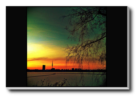 Canvas Art Prints, Death Wave Stretched Canvas Print, - PosterGully - 1