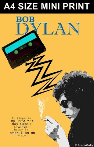 Mini Prints, Bob Dylan | On Stage | Mini Print, - PosterGully