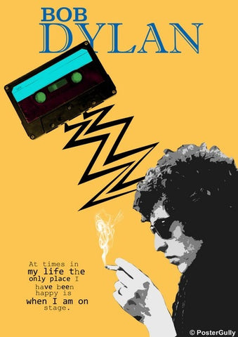Wall Art, Bob Dylan | On Stage, - PosterGully