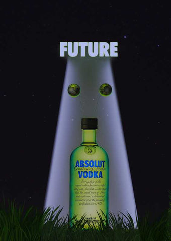 Brand New Designs, Absolut Future Artwork | Artist: Sam Rp, - PosterGully