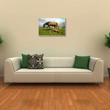 Canvas Art Prints, Highland Horses Stretched Canvas Print, - PosterGully - 3