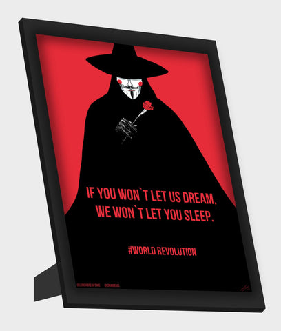 Framed Art, V For Vendetta Framed Art, - PosterGully