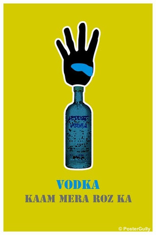 Wall Art, 4 Bottle Vodka Kaam Roz Ka, - PosterGully